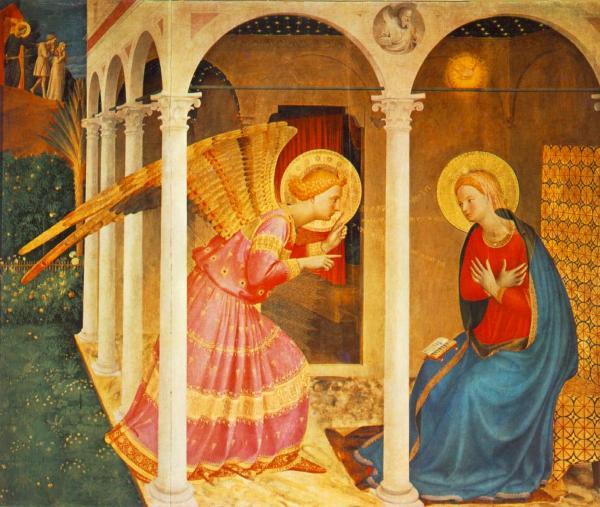 Lannonciation de Fra Angelico - Florence