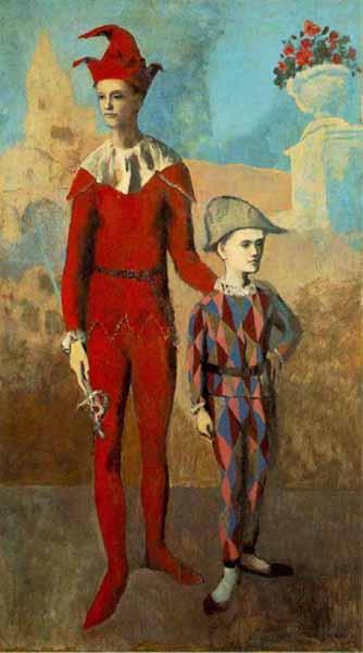 Arlequins... Peinture-acrobate-jeune-arlequin-Picasso
