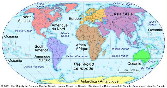 Globe tour du monde
